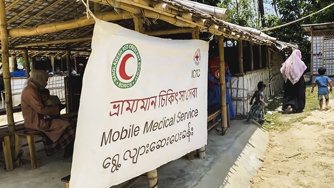 A mobile medical service in Bangladesh