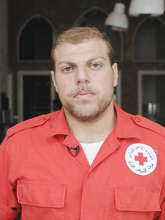 Red Cross volunteer Michael