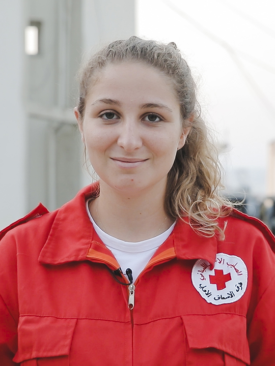 Red Cross volunteer Natasha