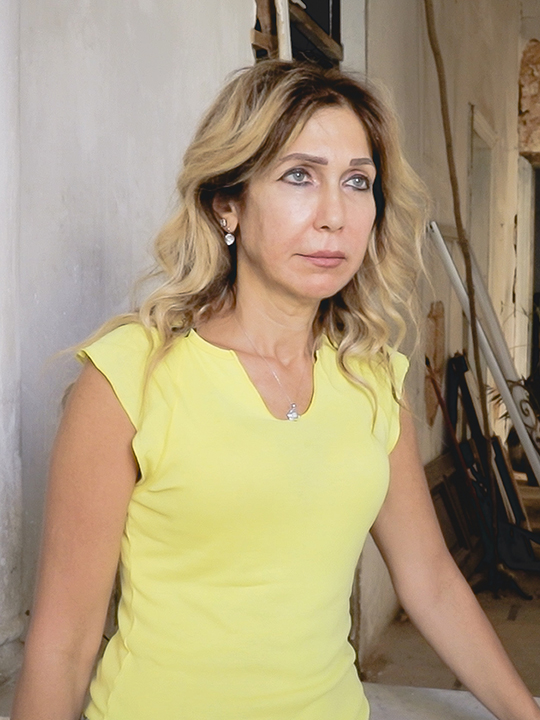 Rita in her home in Beirut