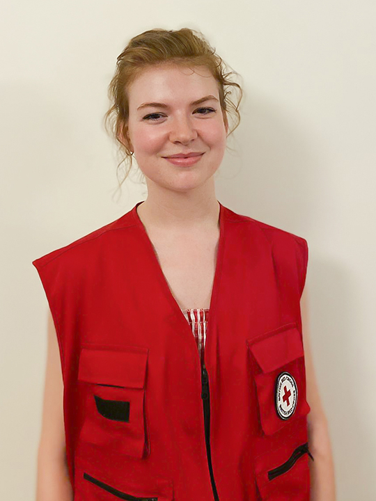Siel in her Red Cross uniform