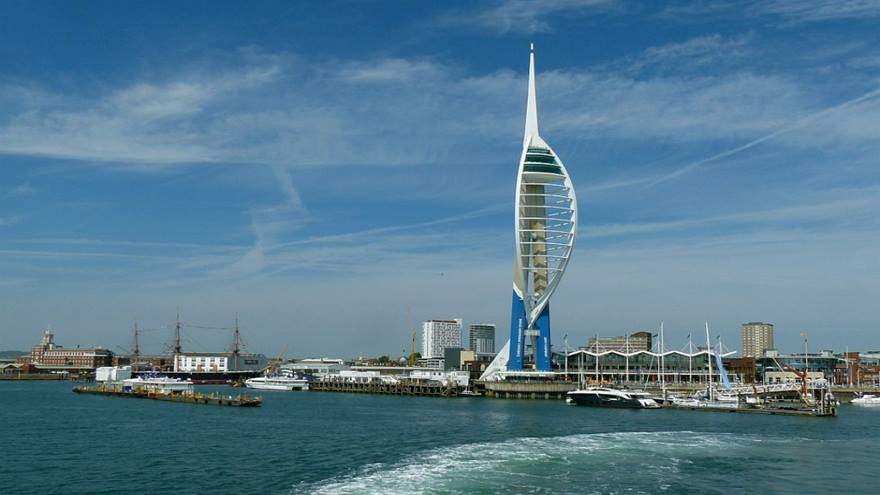 Spinnaker Tower in Portsmouth, where the British Red Cross is holding a sponsored abseil.