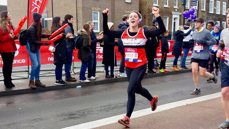 Big Half Red Cross runner running in the event