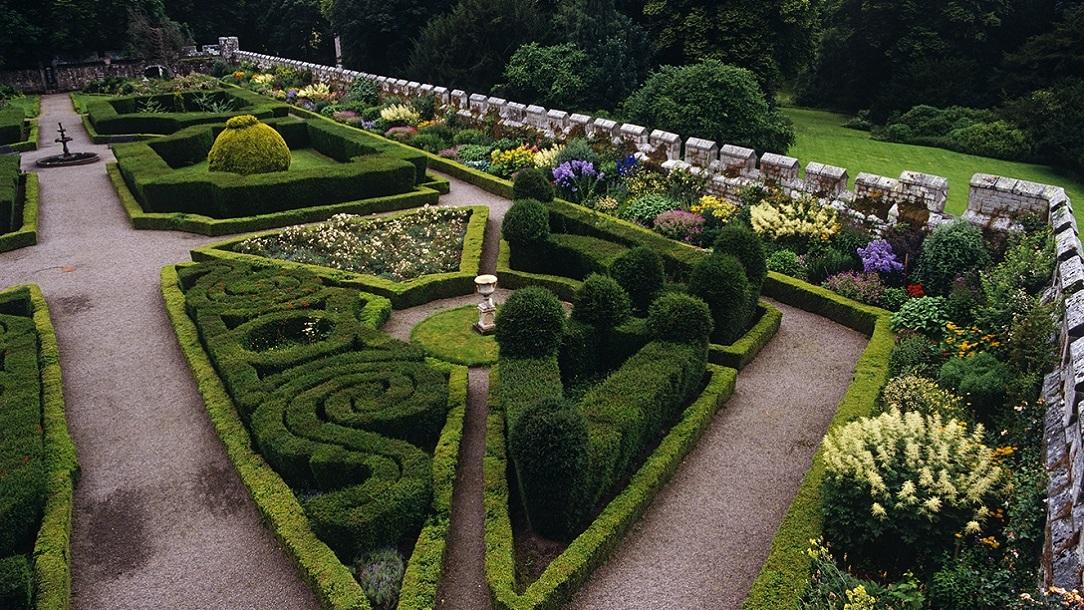 Chillingham Castle Red Cross Garden