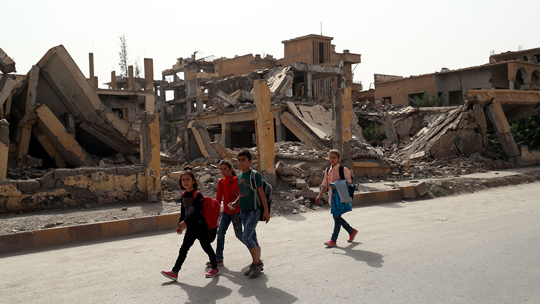 School in Raqqa, Syria