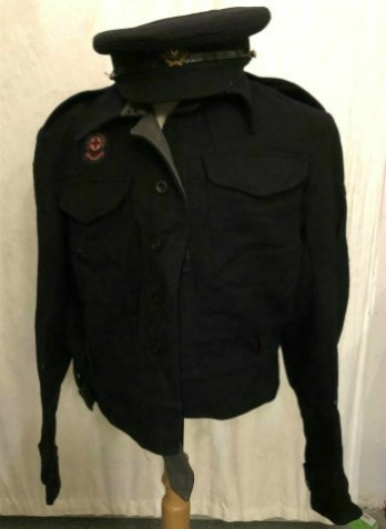 The British Red Cross volunteer uniform worn by John Cole at Aberfan.