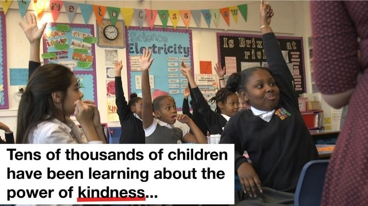 Still from British Red Cross Power of kindness video aimed at school aged children