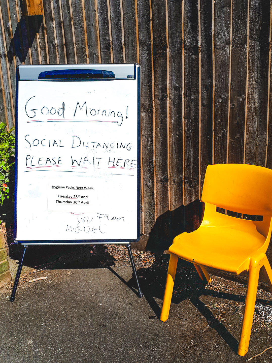 Social distancing at our Hackney centre