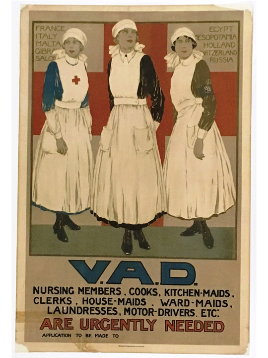 A Red Cross recruitment poster from 1918